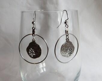 Silver Tree Earrings, earrings, dangle, tree