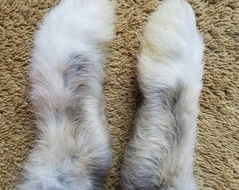 Matching Pair - Real Opal and White Rabbit Feet