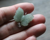 Aventurine Butterfly Sterling Silver Figurine Pendant #7460