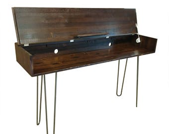 Mid Century Style Keyboard Stand with Hairpins - MADE TO ORDER