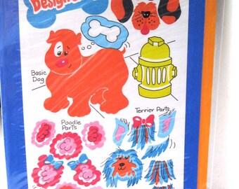 1983 Sandylion Card and Design a Dog Stickers NIP