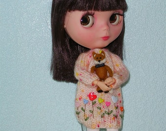 OOAK Needle Felted Fox Toy For Blythe And All Other Dolls Or For Miniature Collectors