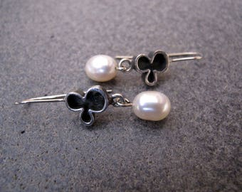 Pearl Sterling Silver Earrings