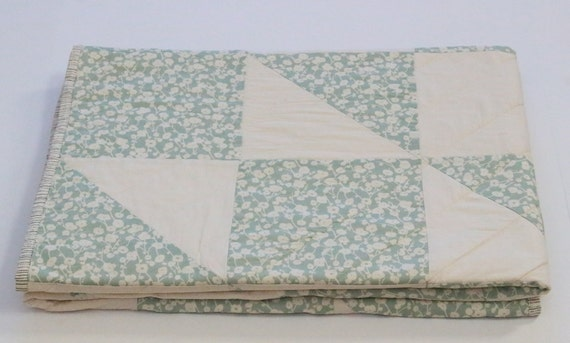 Teal Patchwork Throw Quilt