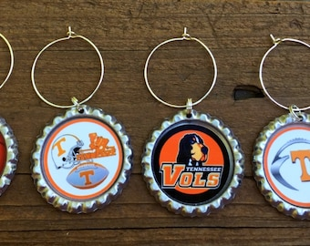 Tennessee Vols wine glass charms for the wine lover in your life....