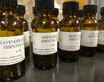 Essential Oils - 1oz - Choice of 100% Pure / Natural Essential Oils for Candle Making, Soaps, Diffusers, & more!