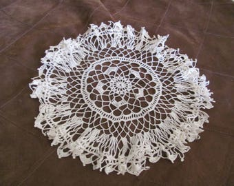 "Doily Handmade Vintage Crocheted Doily 12"" Inch Round Shape (#42B)"