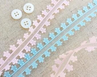 Daisy edged Ribbon. Cut Out Daisy Ribbon. New Baby Ribbon. Baby Shower Decoration. Summer Craft Ribbon. Pretty Haberdashery