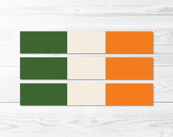 Irish Flag Water Bottle Wraps -- St Patrick's Day, St Patrick's Party, Flag of Ireland, Water Bottle Labels, Printable, Instant Download