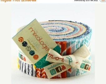 Mixologie Studio M Moda Jelly Roll Strips of Fabric Ready to Ship