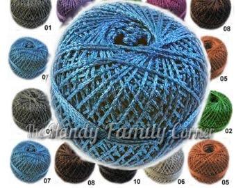 Disco yarn. Glitter Yarn, glitzy yarn, Shine, sparkle yarn, glamour yarn, metal viscose yarn, lame. DSH(P)