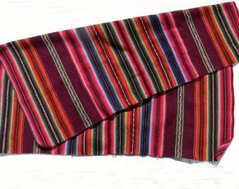 Vintage Mexican Rug Saltillo Blanket Beach Sarapes Wool