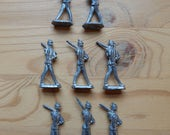 Antique Vintage European Tin Lead Soldiers Set of 8