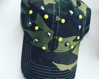Camouflage Beaded Cap