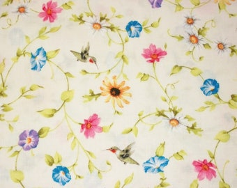 Quilting Fabric, By The Yard Fabric, Flower Fabric, Red Rooster Fabrics, Adalee's Garden Collection, Sewing Craft Fabric, Novelty Fabric