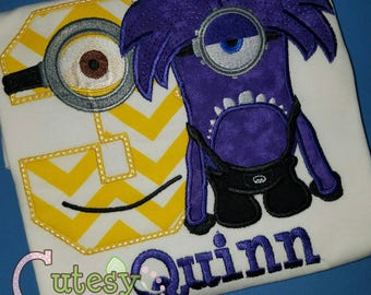 Purple Minion Birthday Shirt