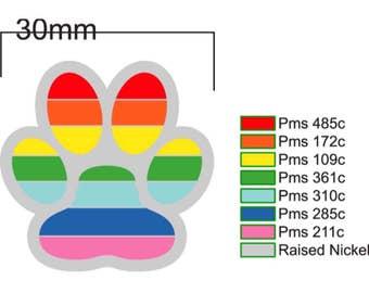 Rainbow Paw Pride Hard Enamel Pin discount PREORDER