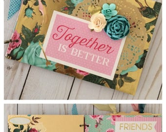 Together is Better Mother's Day Scrapbook Album or Teacher Appreciation Gift