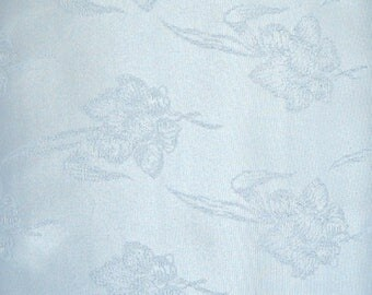 Sky Blue Faille Jacquard Fabric, 100 Percent Polyester, Fabric by the Yard