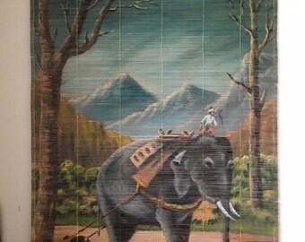 Vintage Bamboo Wall Hanging