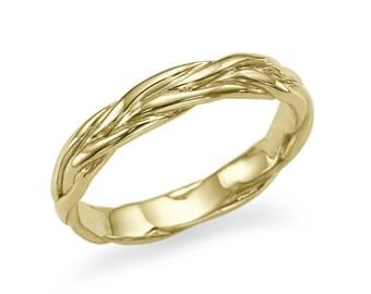 14K Yellow Gold Wedding Band Solid Yellow Gold Size 6.5 Band Sizeable Bridal Jewelry