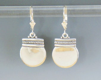 ER531- Sterling Silver Everyday Earrings-One of a Kind