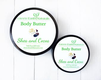 Whipped Body Butter -  7.40 fluid ounce glass jar - Organic - Body Butter - Shea Butter - Whipped Shea Butter - Vegan Body Butter