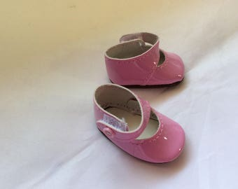 Pink Mary Janes, doll shoes, fit Wellie Wisher, 14 inch doll clothes