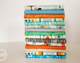 Scenic Route Full Collection Fat Quarter Bundle , 15 Pieces, Deena Rutter, Riley Blake Designs, 100% Cotton Fabric, C3660
