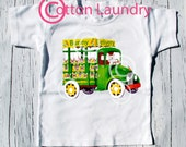 """Easter Boy Shirt - """"Bunny Delivery"""" - Boy Bunny Shirt - Vintage inspired Easter Truck, boys Easter tee shirt"""