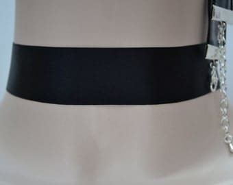 BLACK Double SATIN 25mm 1 Inch Classic Plain Ribbon Choker Necklace- wa... or other colours, please have a look :)