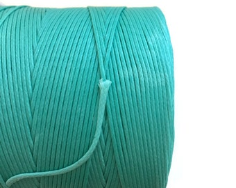 Mint Turquoise Waxed Polyester Cord (0.8mm) 10m - 11yards S 40 175