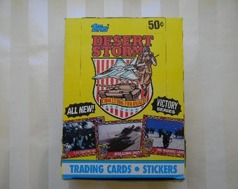 1991 Store Box, 36 Packs, Topps, DESERT STORM Victory Series, Collector Cards