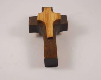 Handmade Wood Cross Folk Art