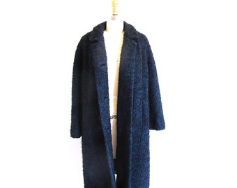 Vintage 60s Coat, Jackie Kennedy Coat, 1960 Mohair Tweed, Dress Length Coat, Union Label, Made in the USA
