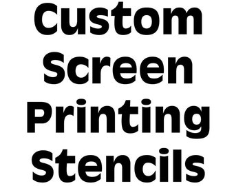 Screen Printing Stencil Silkscreen Mesh Silk Screen Reusable Painting Custom Personalized T Shirt DIY