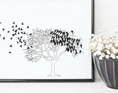 Birds in a Tree Print | 8...