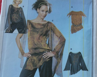 Burda Young Fashion Plus Size Shirt Semi Fitted Flutter Sleeve Easy Sewing Pattern