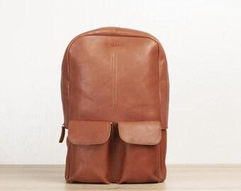 Laptop backpack leather, mens backpack, computer backpack, business bag men, college backpack, minimalist backpack, gray leather bag, laptop