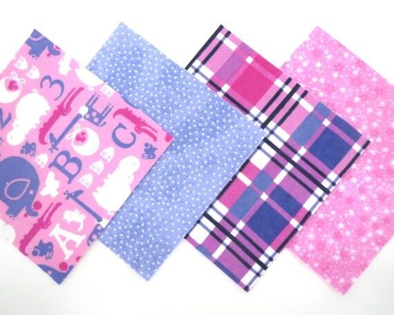 48 Piece Flannel Rag Quilt Kit 6 x6  Pre Cut Quilt Squares in Fun ... : pre cut flannel rag quilt kits - Adamdwight.com