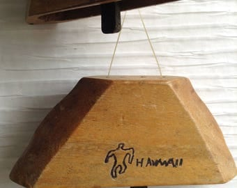 Hawaii Wood Wind Chime.  Mid Century Modern, Pop, Panton Eames era. Vintage MOD Tiki Bar