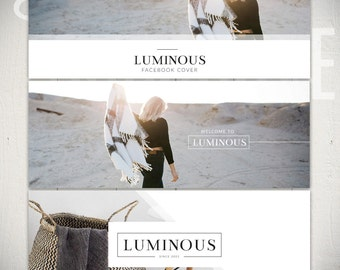 Facebook Timeline Cover Templates: Luminous - 3 Facebook Covers