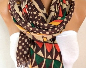 ON SALE --- Fall Cotton Scarf Shawl Casual Cowl Bridesmaid Gift Beach Wrap Pareo Gift Ideas For Her Women Fashion Accessories Scarves