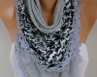 ON SALE --- Gray Knitted Scarf,Fall Winter Scarf, Shawl, Cowl,Bridesmaid Gift, Gift Ideas For Her  Women Fashion Accessories best selling it