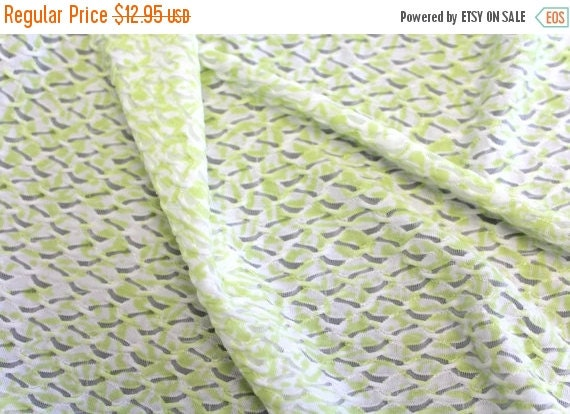 Apparel fabric,Green and white apparel fabric,Burn out fabric,Dress fabric,Blouse fabric,Scarf fabric,Semi sheer,Semi Stretch,By The YARD