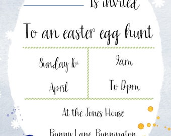 Handmade Easter Egg Hunt Invitations (Printable)