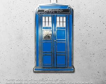 TARDIS / Dr. Who/ Allons-y / Doctor Who / Police Box / Hat Pin / Lapel Pin / Hard Enamel / Time Travel /  Pin / Lapel Geek Pin