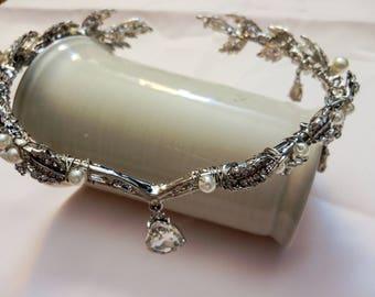 Wedding Crown Tiara, Gold Bridal Headpiece, Hair accessory, Bridal Headpiece