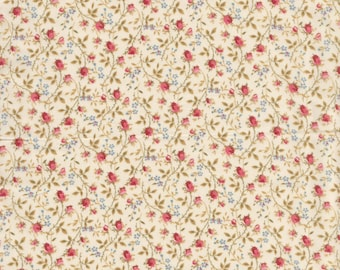 "Liberty Tana Lawn fabric ROSY - 17"" wide x 13"" (43cm x 33cm) - peach, cream"