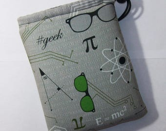 """Pipe Pouch, Pipe Case, Science Bag, Geek Gift, Glass Pipe Bag, Padded Pipe Pouch, Stoner, Weed, 420, Smoke Bag, Pipe Cozy - 7"""" DRAWSTRING"""